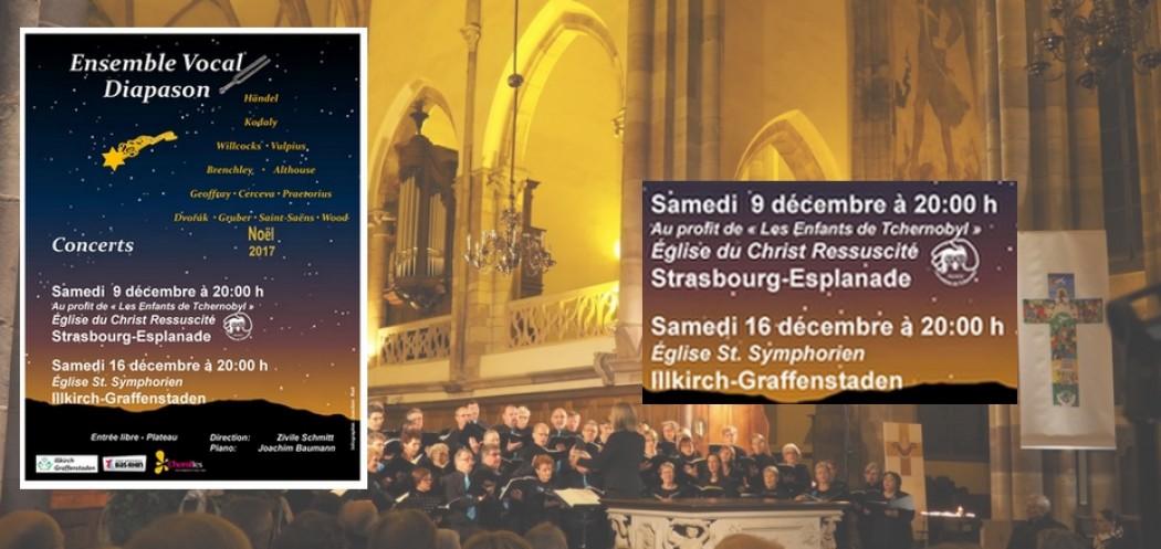 L'ensemble DIAPASON chante NOËL à St. Symphorien et au Christ Ressuscité